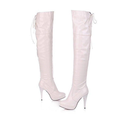 Outlet Appeal White / 4 ENMAYER Over Knee Boots Long Women Boots Winter Footwear High Heel Shoes Woman