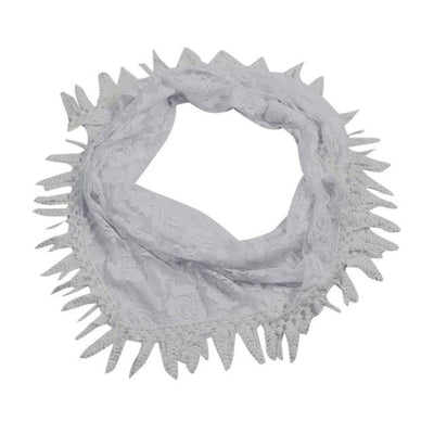 Outlet Appeal White / China 135cm-175cm Women Lady Long Lace Rose Flower Triangular Mantilla Scarf Wrap Shawl bandana