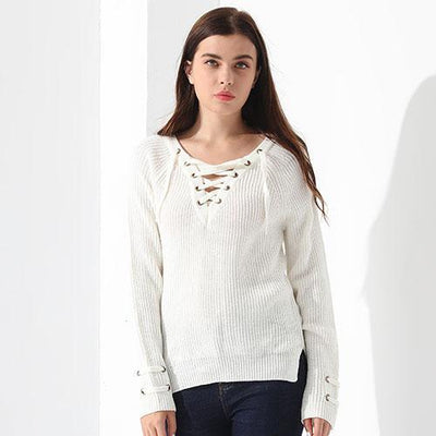 Outlet Appeal White / L Sweater Women Pullover Long Sleeve Knitted Tops Women's Knitwear 2018 GAREMAY