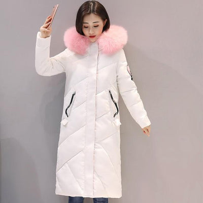 Fur Collar Long Winter Coat