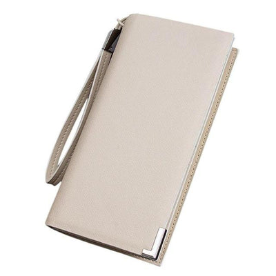 Outlet Appeal White Synthetic Leather mens wallets and purses multifunction long wallet men Bi-Fold flip wallet