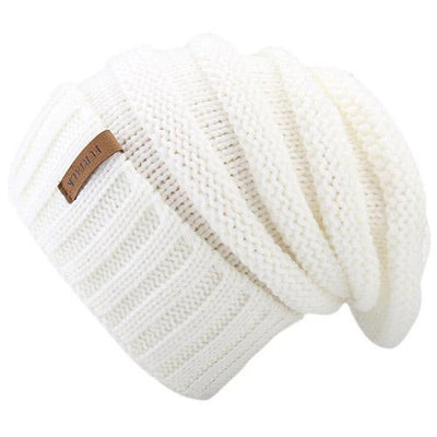 Outlet Appeal white Women's Winter Knitted Slouchy Beanie Hat