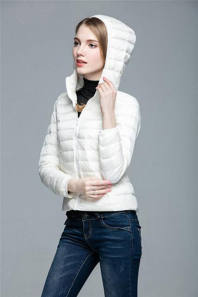 Outlet Appeal white / XXL / China Women Ultra Light Down Coat Outwear Jacket