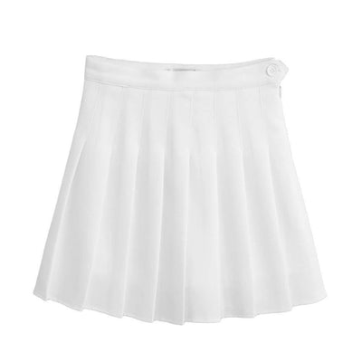 Outlet Appeal White / XXL Sports High Waist Skirts Short Pleated Skirt School Dresses for Teen Girls Tennis Scooters