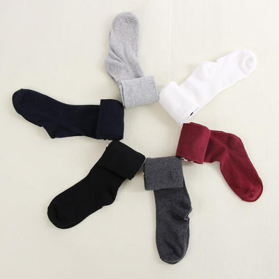 Outlet Appeal Wine Red Cute Long Socks Over Knee Socks Cotton Thigh Stocking for Women