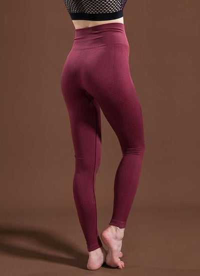 Outlet Appeal Wine Red / L / China Women's High Waist Stretch Fitness Yoga Pants Leggings - 10 Colors