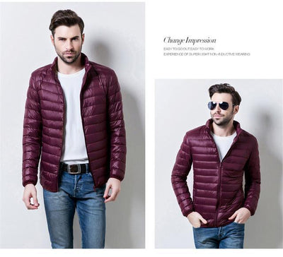Outlet Appeal wine red / S / China Mens Autumn Winter Duck Down Jacket