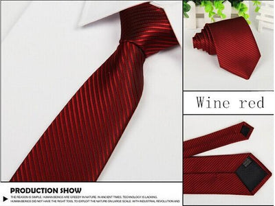Outlet Appeal Wine Red Solid 8cm slim ties men necktie Fashion Man Accessories For Party Business Formal lot