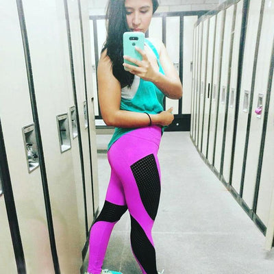 Outlet Appeal Women Exercise Mesh Breathable Sportwear Fitness Leggings Ladies Spandex Legging