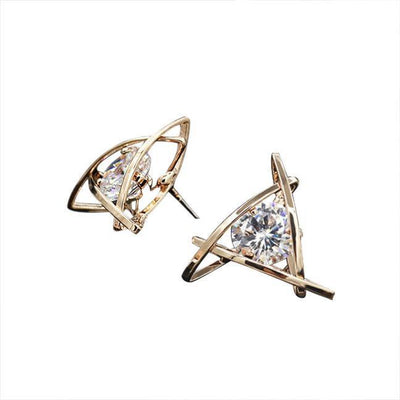 Outlet Appeal Women Fashion Lovely Elegant Crystal Rhinestone Square Ear Stud Earrings Hot GD