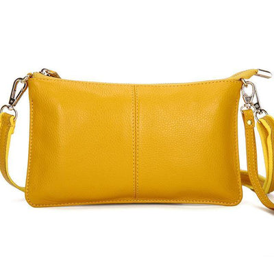 Outlet Appeal Yellow Genuine Leather Crossbody Shoulder Bag Clutch Purse Handbag