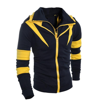 Outlet Appeal Yellow / L Men Retro Long Sleeve Hoodie Hooded Sweatshirt Tops Jacket Coat Outwear