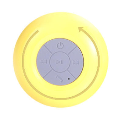 Outlet Appeal Yellow Mini Subwoofer Handsfree Built-in Suction-Cup Bluetooth Speaker