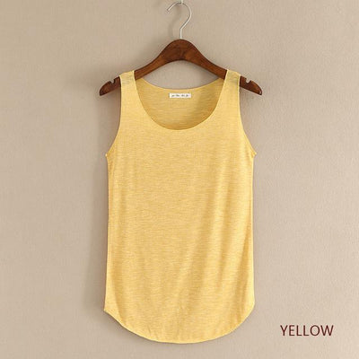 Outlet Appeal yellow / One Size Fitness Tank Top T Shirt Plus Size Loose Model Women T-shirt Cotton O-neck Slim Tops