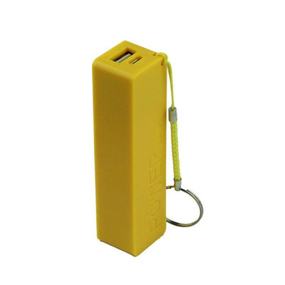 Outlet Appeal Yellow Portable Power Bank - External Backup Battery