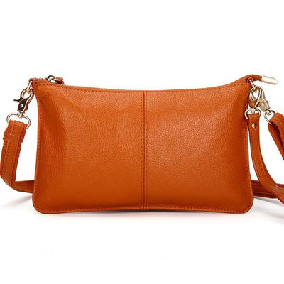 Outlet Appeal Yellowish brown Genuine Leather Crossbody Shoulder Bag Clutch Purse Handbag