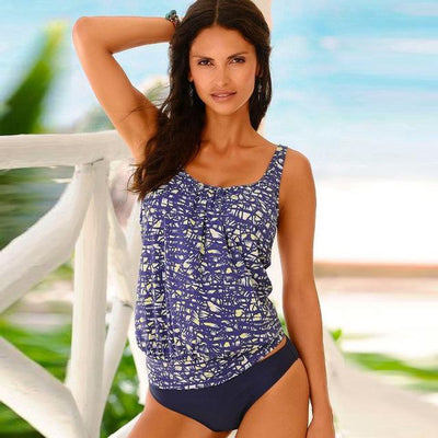 Outlet Appeal YH1817B1 / S Vintage Beach Tankini Swimsuit Set - Small-XXL
