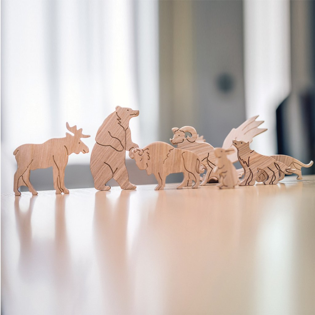 Pre-Order - Wooden Sorting Puzzle - Animals Of North America (Arriving Oct)