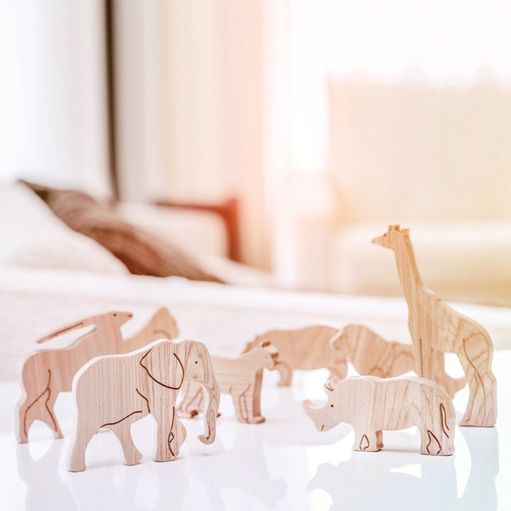 Pre-Order - Wooden Sorting Puzzle - Animals Of Africa (Arriving Oct)