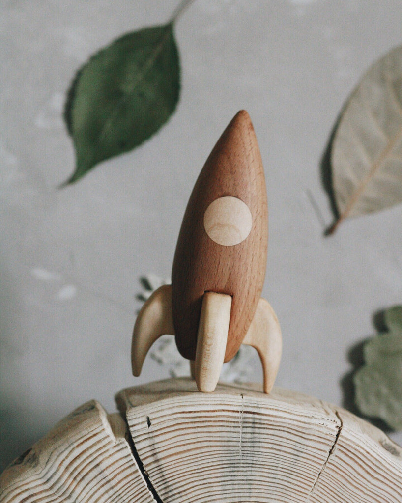 Wooden Rocket - Rusty