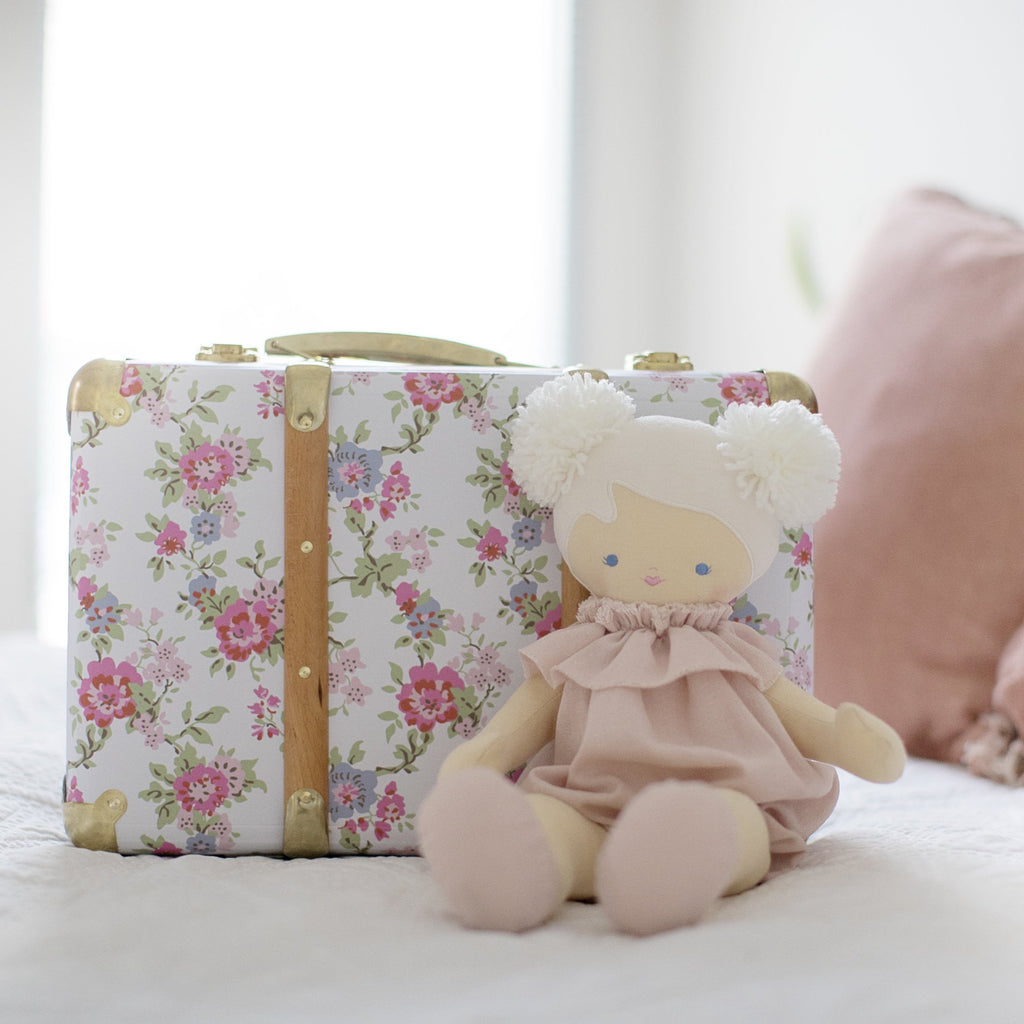 Vintage Style Carry Case - Cottage Rose