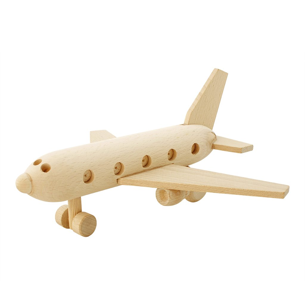 Wooden Toy Passenger Plane - Sully