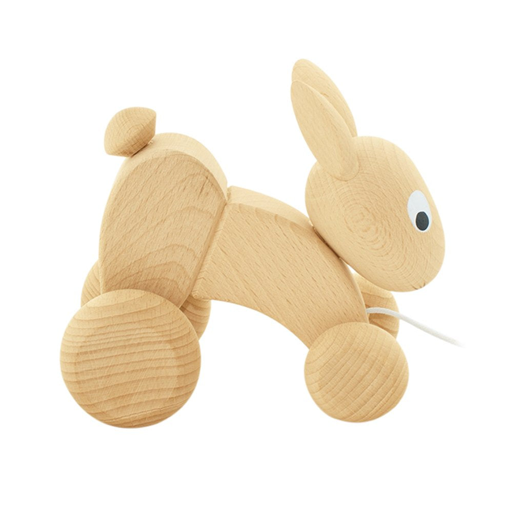 Wooden Pull Along Rabbit - Luna