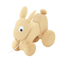 Load image into Gallery viewer, Wooden Pull Along Rabbit - Luna