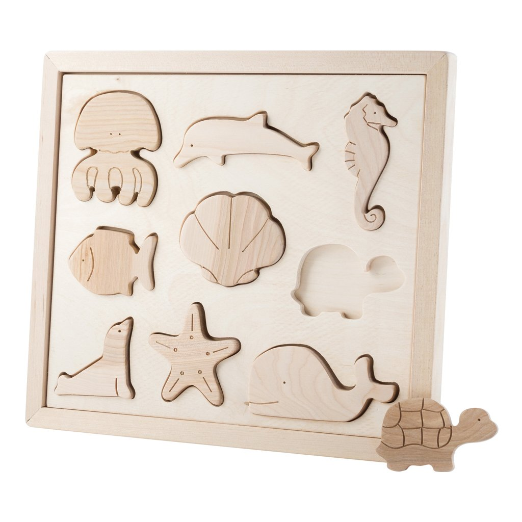 Pre-Order - Wooden Sorting Puzzle - Sea Creatures (Arriving Oct)
