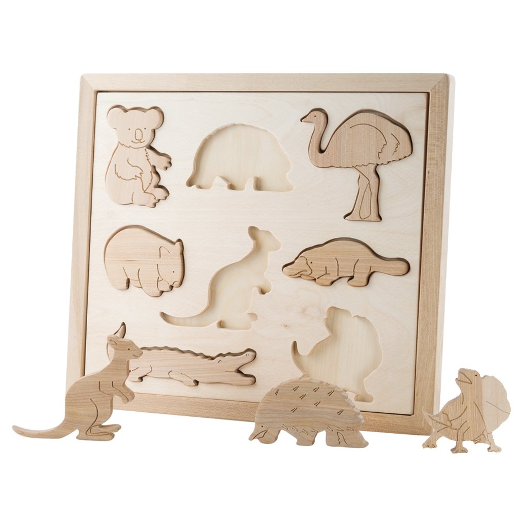 Pre-Order - Wooden Sorting Puzzle - Animals Of Australia (Arriving Oct)