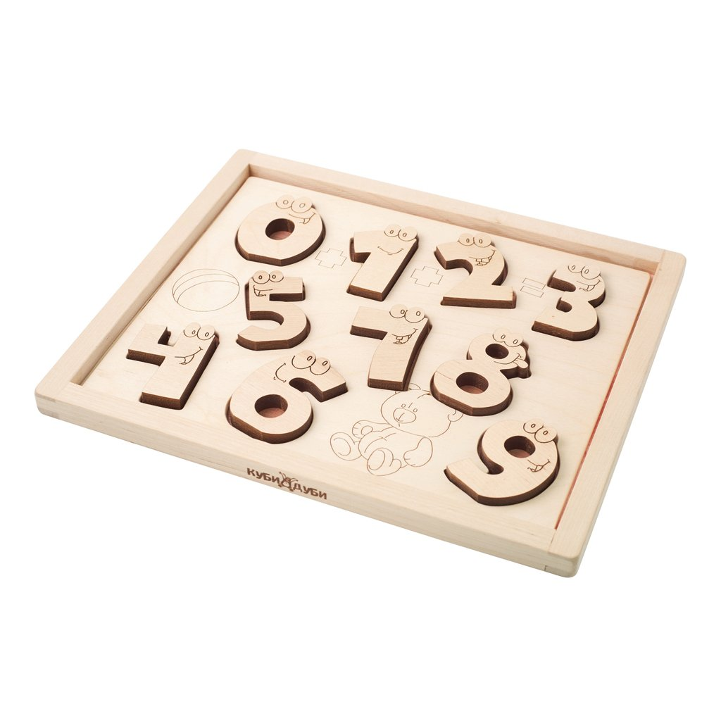 Pre-Order - Wooden Puzzle - Funny Numbers (Arriving Oct)