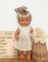 Load image into Gallery viewer, AMELIA Dress Minikane/Paola Reina and 32cm Miniland - Ivory/Cream Linen