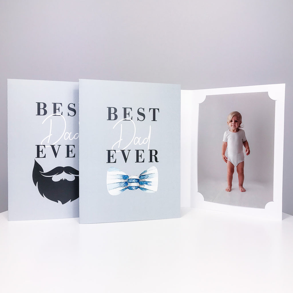Best Dad Ever Card/Photo Folder - 3 variants
