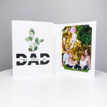 Load image into Gallery viewer, Happy Father's Day Eucalyptus Card/Photo Folder