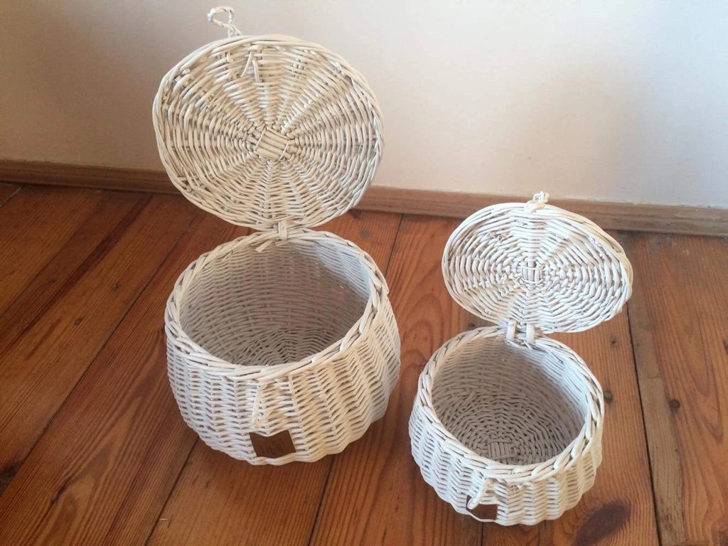 Wicker Basket Large - White