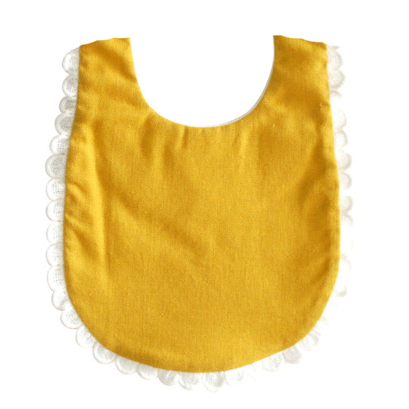 Sophie Bib - Butterscotch Linen