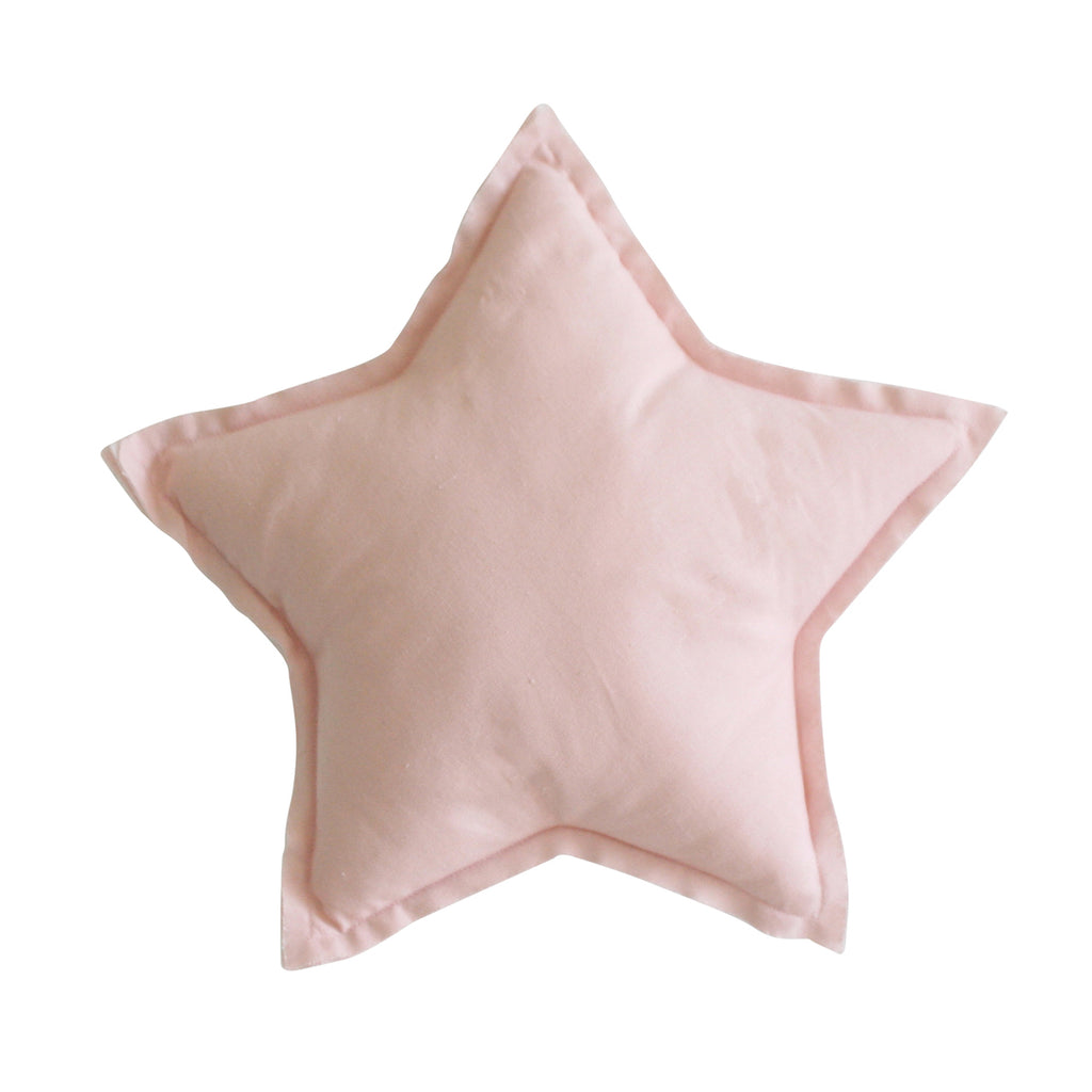 """SPECIAL ORDER"" - Alimrose Linen Star Pillow 40cm - Pink"