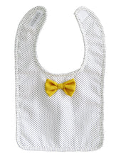 Load image into Gallery viewer, Bow Tie Bib - Navy Pinspot