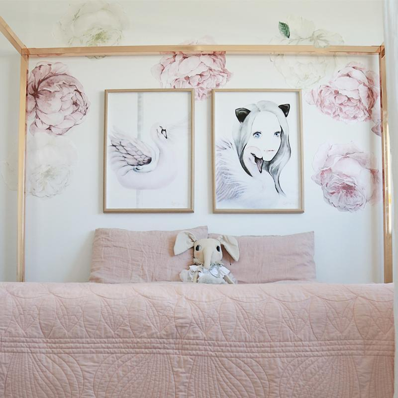 *COMING SOON* Peony & Rose Wall Decals Blush