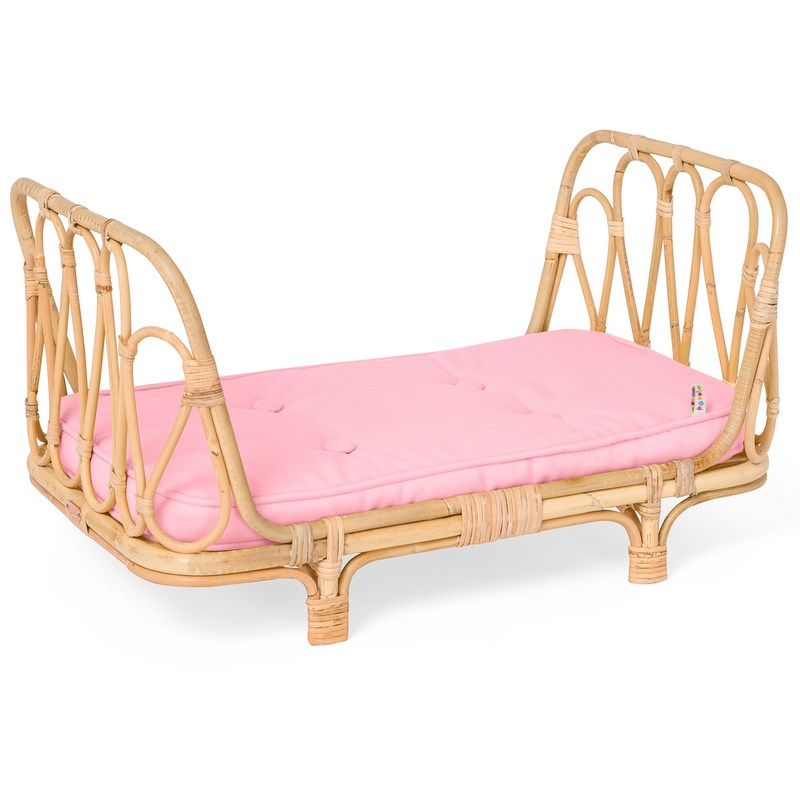 PRE-ORDER - Rattan Poppie Day Bed - Pink