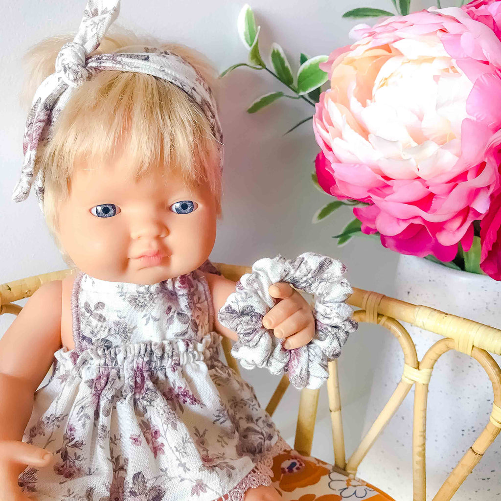 Doll Clothing- Floral Scrunchie