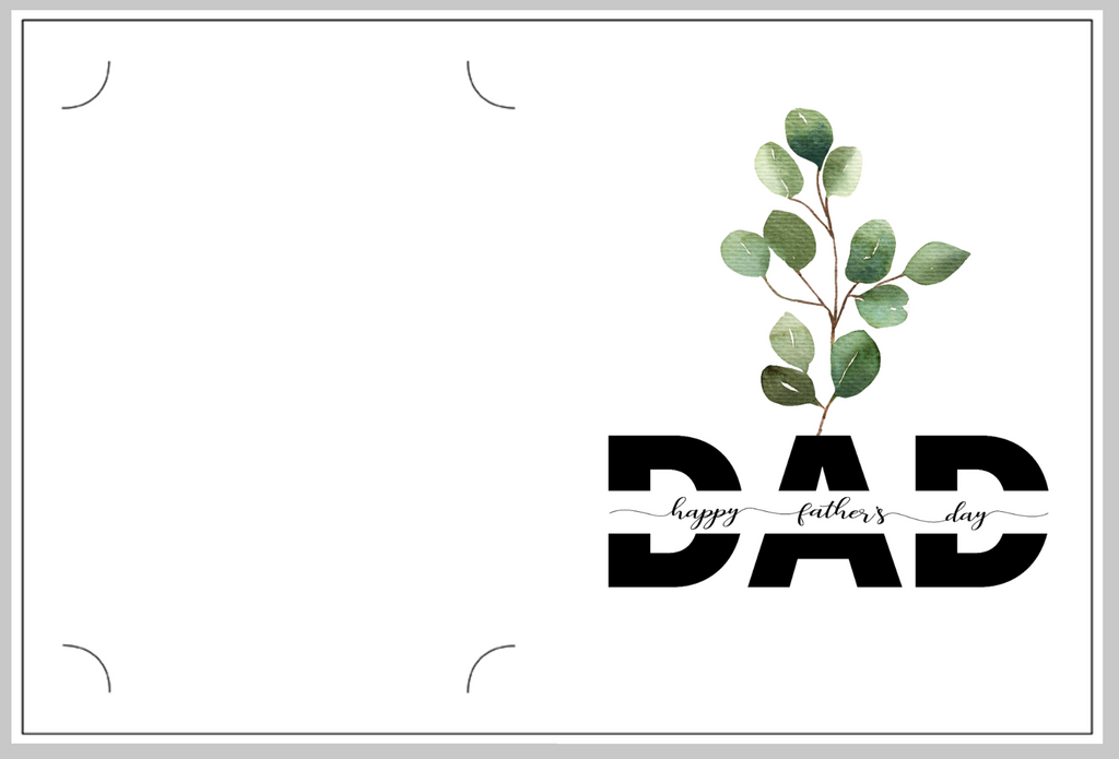 Happy Father's Day Eucalyptus Card/Photo Folder