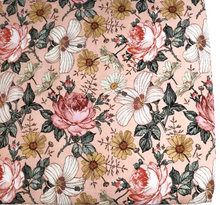 Load image into Gallery viewer, COT SHEET - GARDEN FLORAL ROSE PINK