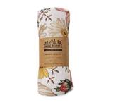 MUSLIN SWADDLE - GARDEN FLORAL - WHITE