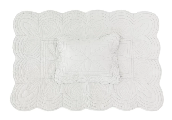 Bonne Mere Cot Quilt and Pillow Set - Mist