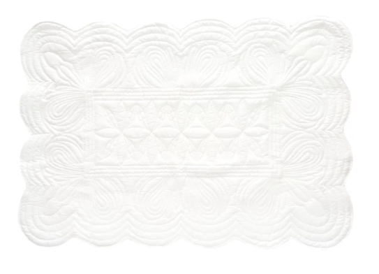 Bonne Mere Cot Quilted Bedspread and Pillow Set - White
