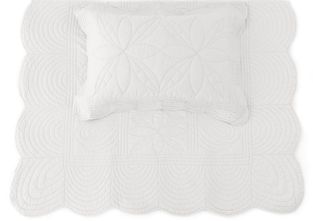 Bonne Mere Single Quilted Bedspread and Pillow Set - MIST