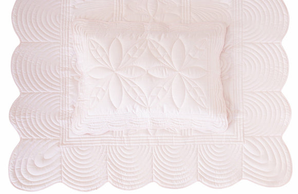 (*Special-Order*) Bonne Mere King Single Bedspread and Pillow Set - Powder