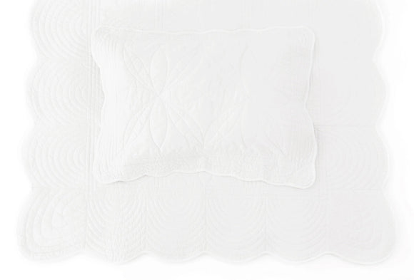 (*Special-Order*) Bonne Mere Queen Quilted Bedspread and Pillow Set - White