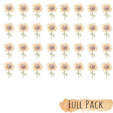 Load image into Gallery viewer, SUNFLOWER Mini Wall Decals